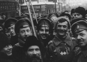 Годовщина Революции — 1918, реж. Дзига Вертов (восстановленный отрывок)