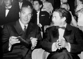 Премьер-министр Италии Альдо Моро и Пьеро Пазолини, 1964