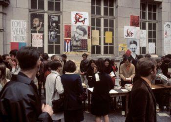 Цветная кинохроника Мая-1968 года в Париже