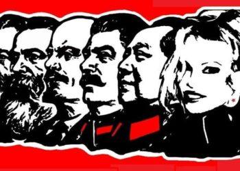 Памела Андерсон в одном ряду с Лениным, Мао, Марксом…