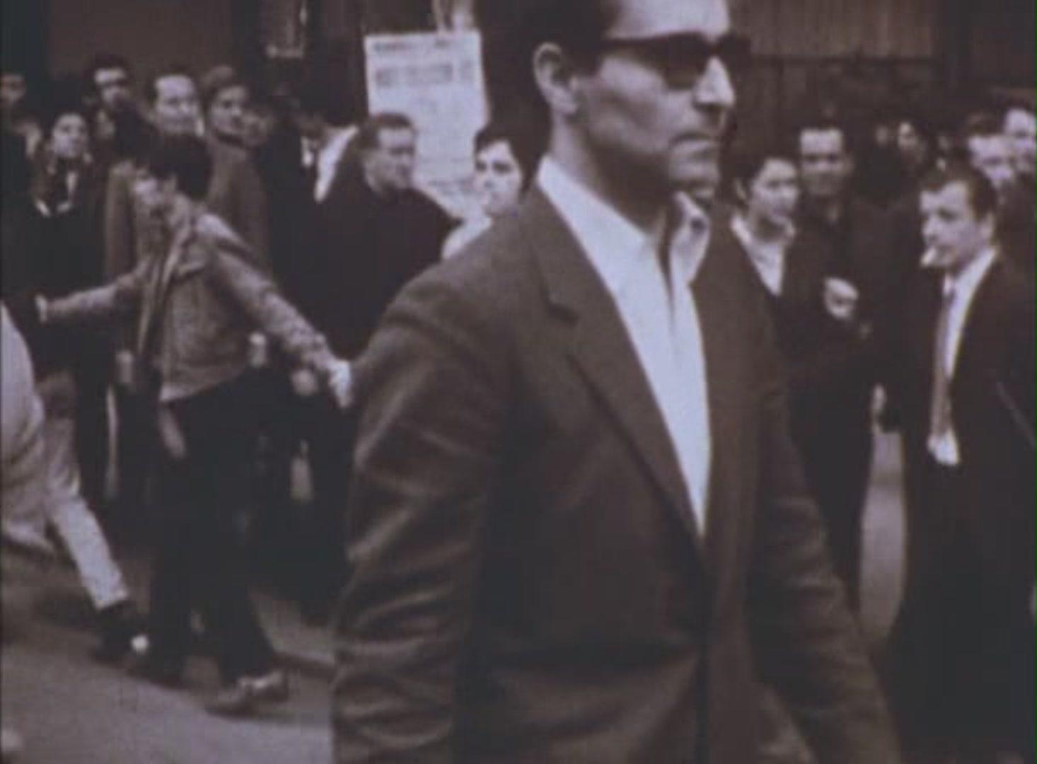 Жан-Люк Годар во время майских событий 1968 года.