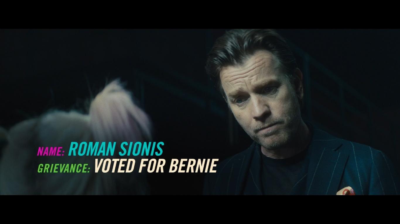 Харли Квинн голосовала за Берни, поэтому ее так не любит Роман Сионис - главный антигерой фильма