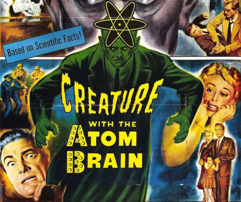 Фильм Creature With the Atom Brain (1959) позиционировался как «основанный на научных фактах» ради маркетинговых целей