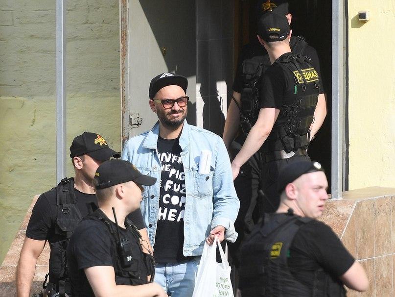 Арестованный Кирилл Серебренников (источник — Meduza)