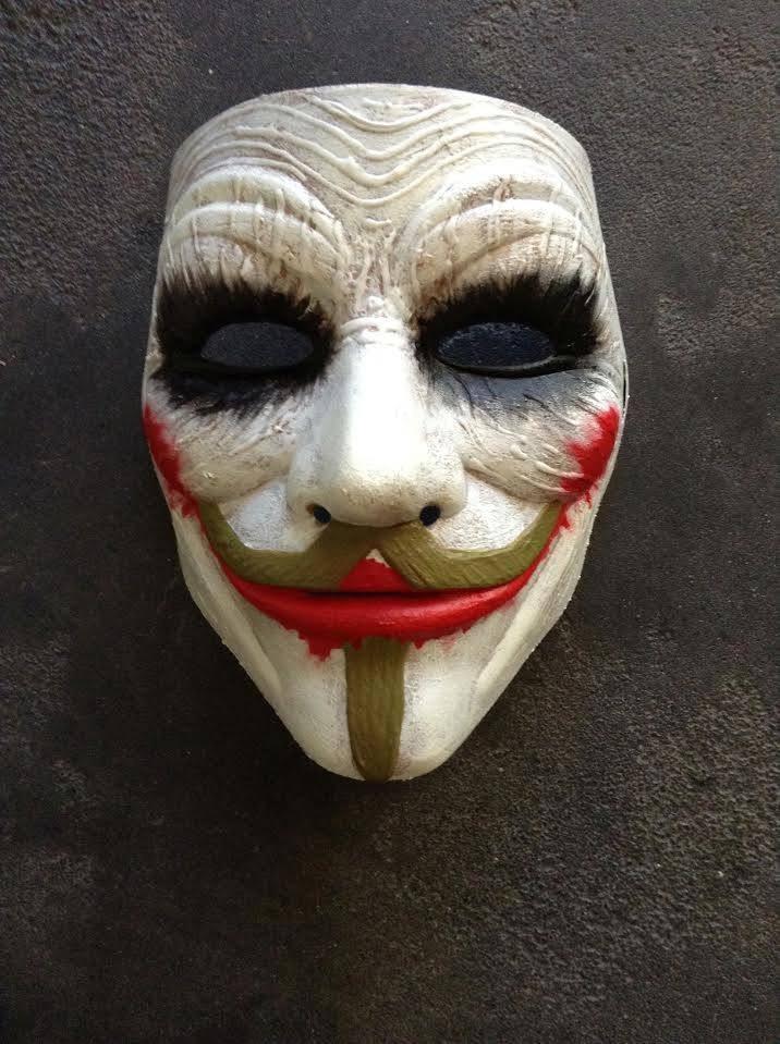 Когда одна маска, накладываясь на другую, образует новое лицо