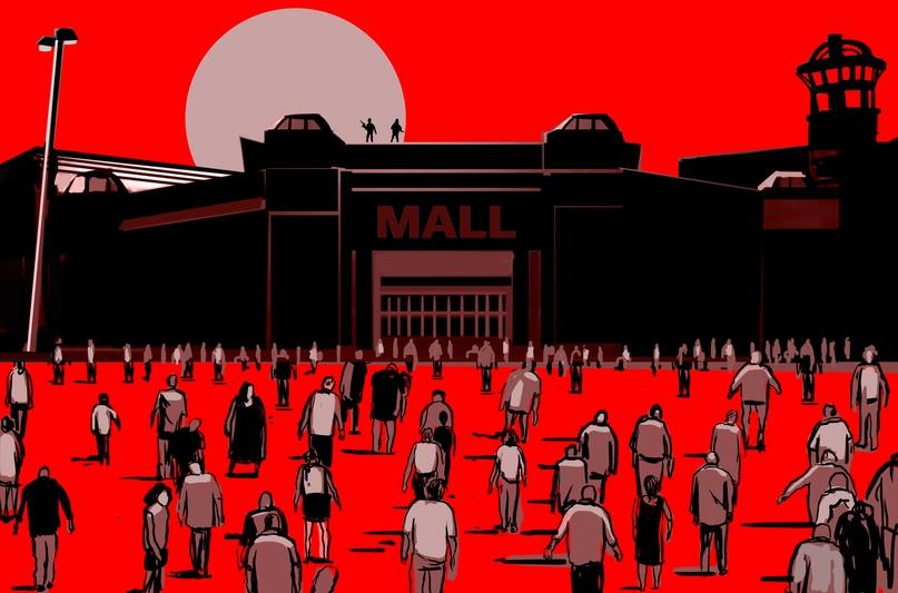 В фильме Джорджа Ромеро Dawn of the Dead (1978) зомби заполонили торговые центры